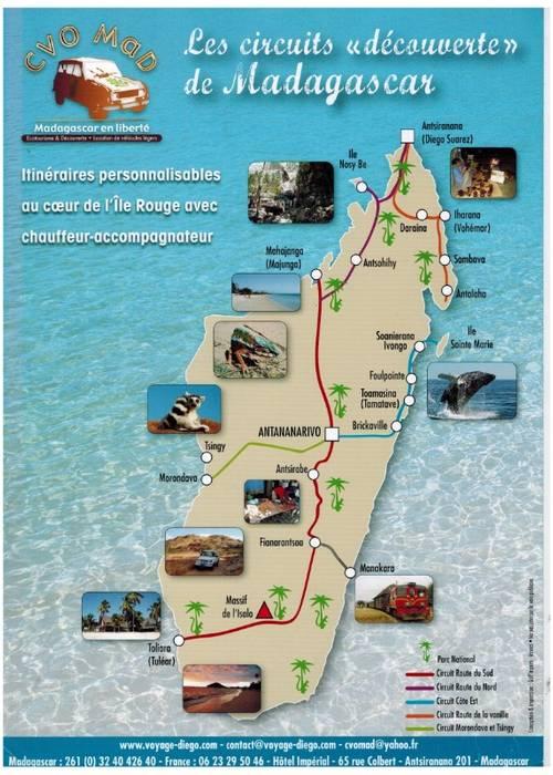 Madagascar circuits personnalisés