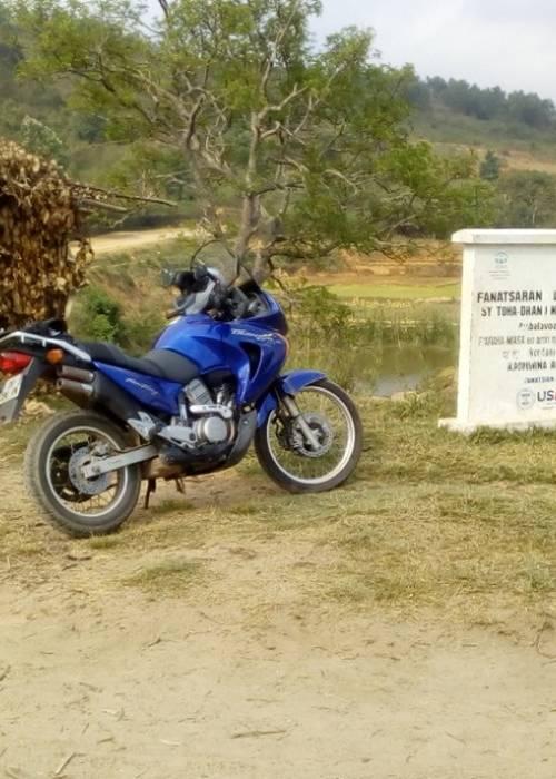 Motard sur tana Talatamaty