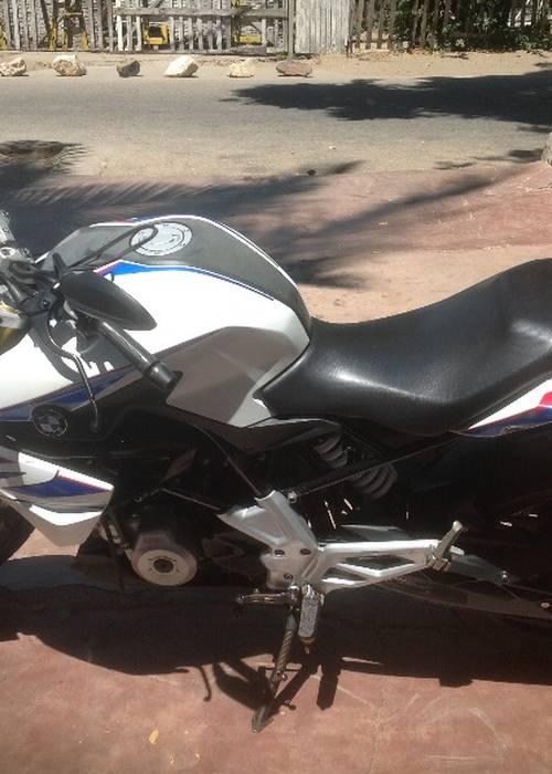 Vente moto BMW G310 bleu et blanche